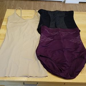 Women's Shapewear Lot 2X Maidenform Cacique